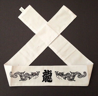 "Japanese Martial Arts Sports ""Ryu"" Dragon Hachimaki Headband Tenugu​i Hand Towel"