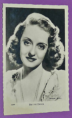 CPA CINEMA CARTE POSTALE N°636 WARNER BROS 1950's BETTE DAVIS HOLLYWOOD MOVIE