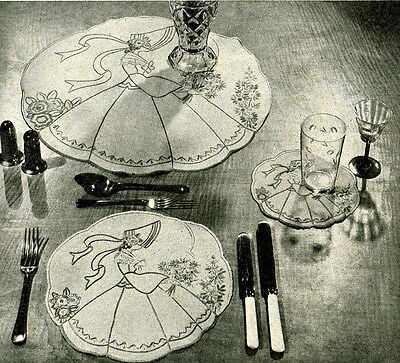 Vintage embroidery pattern-Crinoline lady design in 3 sizes