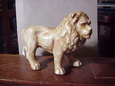 ANTIQUE AFRICAN MALE LION Porcelain FIGURE