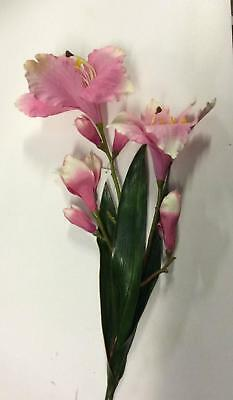 6 Stems Large Magnolia Sprays 'Pink' Artifical Silk Flowers SPECIAL OFFER !
