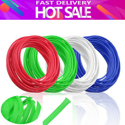 4mm-12mm Expandable PET Braided Cable Wire Sleeving High Density 1m-10m 4 Colors