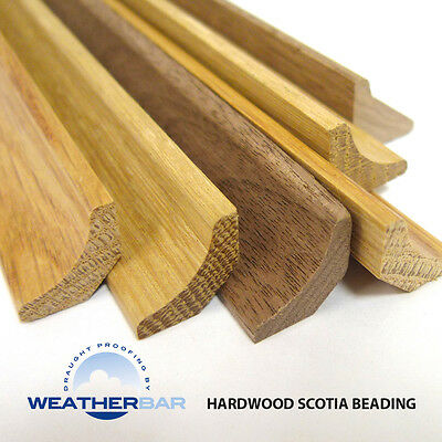 Oak Hardwood Scotia Beading for Wood & Laminate Floors. 2400mm & 890mm Lengths