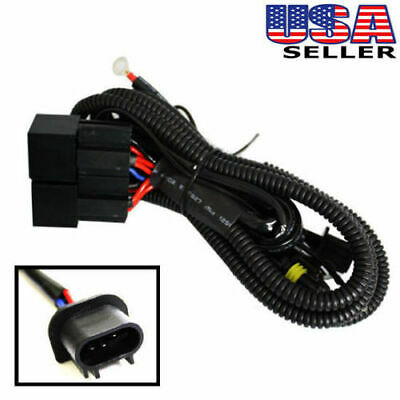 Xenon HID Conversion Kit Dual-Relay Wiring Harness for H13 9008 Hi/Lo Four Lamps