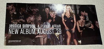 "JESSICA SIMPSON 2006 Public Affair 12"" X 24""  RARE BANNER POSTER I Belong To Me"