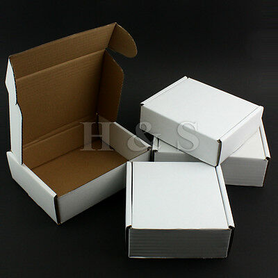 Strong Postal Cardboard Boxes Small Mailing Shipping Cartons Single Wall - White