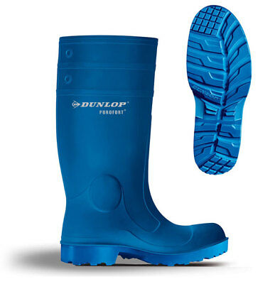Dunlop Purofort Insulated Blue Safety Welly Wellies Wellington Boot 3-13 C151641
