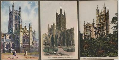 Gloucester Cathedral  Vintage Colour Postcards Unused Q197