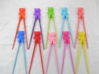 Childrens Learning Chopsticks Chinese Kitty Character Various Colours New