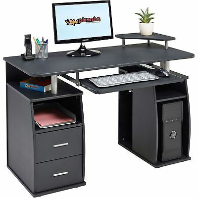 Computer Desk with Shelves Cupboard & Drawers Home Office - Piranha Tetra PC 5g