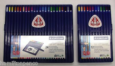 STAEDTLER AQUARELL WATERCOLOUR PENCILS - Boxes of 12 or 24 coloured pencils