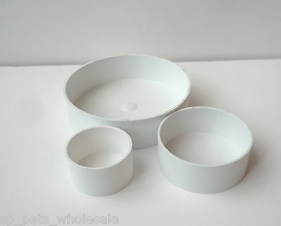 "2"" 3"" And 5"" Recycled Plastic Grit/ Eggfood Pots Multiple Sizes And Quantities"