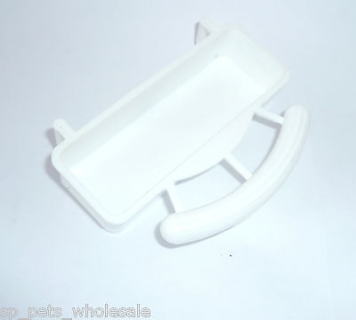 Eggfood Feeder Tray With Perch And Hooks Multiple Quantities Available