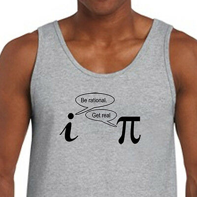 890242b2e Be Rational Get Real Funny Science T-shirt Geek Math Adult American Apparel  Tank