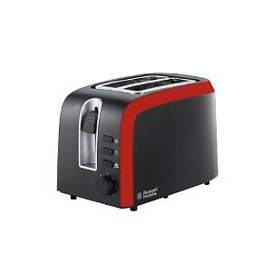 Russell Hobbs 19610 Desire 2-Slice Toaster - Black & Red **BRAND NEW**