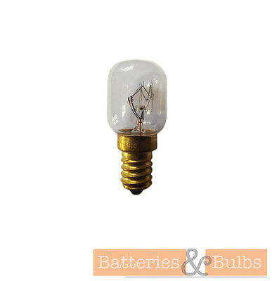 15w or 25w SES Small Screw E14 Oven Bulb Lamp Light 300° | Packs of 1 or 2