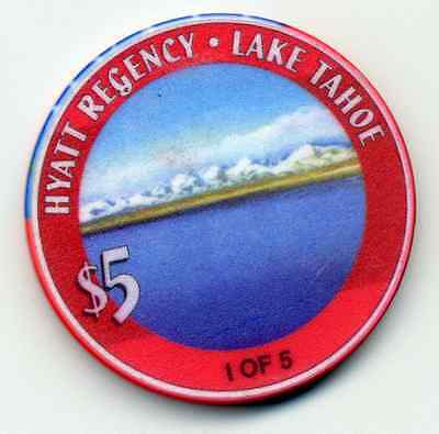 HYATT REGENCY  LAKE TAHOE 1 0F 5  CASINO CHIP