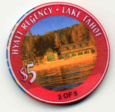 HYATT REGENCY  LAKE TAHOE 2 0F 5  CASINO CHIP