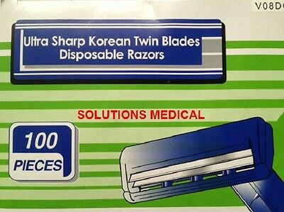 Razor Ultra Sharp 5 Pack Twin Blades Disposable X20 Packets (100/box)