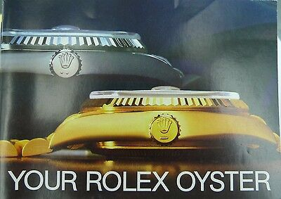 Rolex Oyster Booklet, Various Years & Countries Available