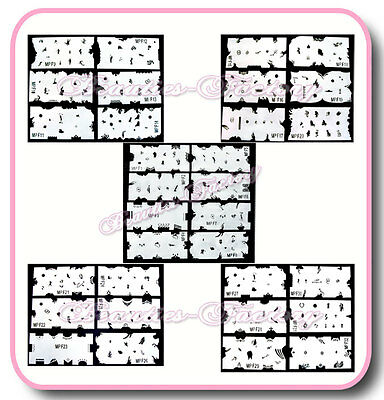 BF Professional 32pcs Airbrush Stencils For Nail Design Reusable (#1-32) #222