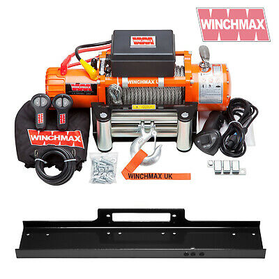 ELECTRIC WINCH 24V 4x4 13500 lb WINCHMAX BRAND + MOUNTING PLATE INCLUDED