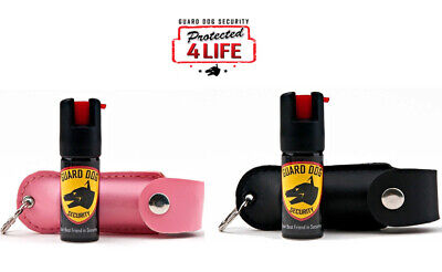 2 PACK Pepper Spray HIS and HER 1/2 oz Pink and Black STRONGEST By LAW 18% OC