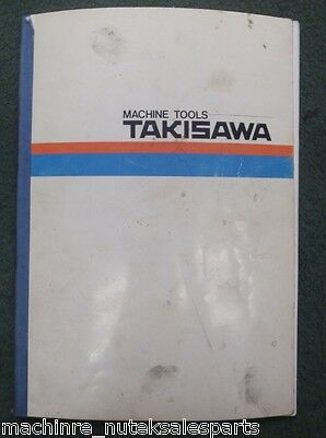 Takisawa Machine Tools MAC-V2E Operation Manual 1 MT09200