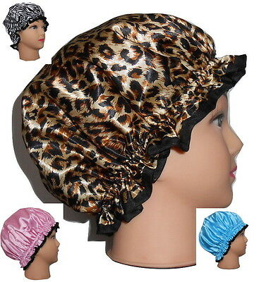 New Elegant Stylish Satin Shower Cap With Lining  4 Colours Melbourne Stock