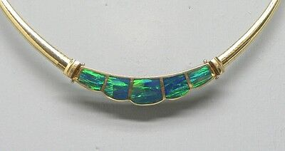Incredible 14K Gold Opal Omega Chain Lots of Fire