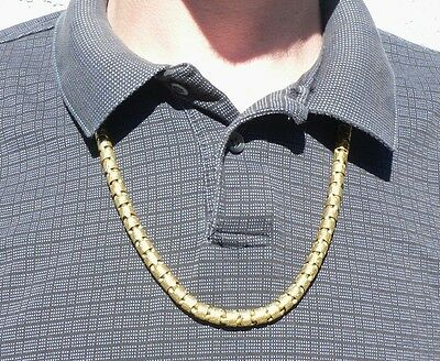 Massive 10 Ounce 24k Gold 28 Inch Necklace