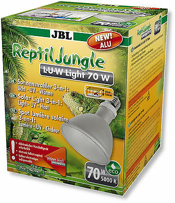 JBL ReptilJungle L-U-W Light alu 70 W - Licht – UV und Wärme in einem