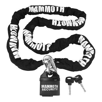 Bike It Motorcycle Motorbike Mammoth Securty Chain & Lock 1.8m Length