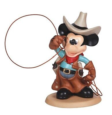Disney Cowboy Mickey Mouse With Rope Lasso Figurine by Precious Moments 132708