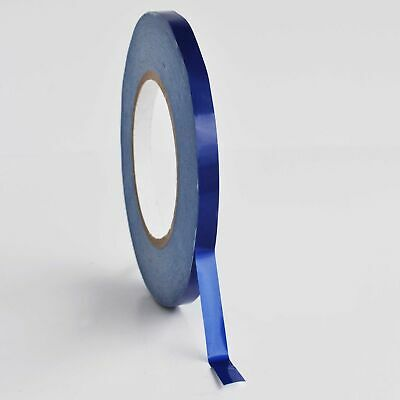"""Blue Plastic Bag Tape Poly Bags Sealer Packing Tapes 3/8"""" x 180 Yards 6 Rolls"""