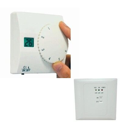 Digital Thermostat Wireless Remote Control RF Receiver For Heating & Cooling