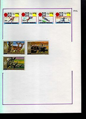 Rwanda 1972 Album Page Of Stamps #S965