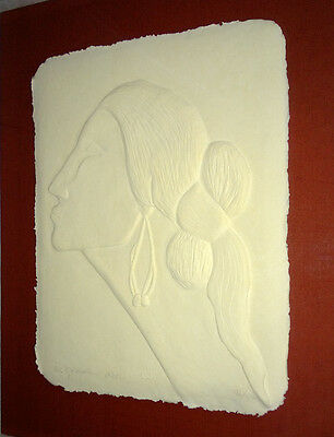 RC Gorman Paper Cast Angelina Signed 95/150 Native American Art Holiday Special