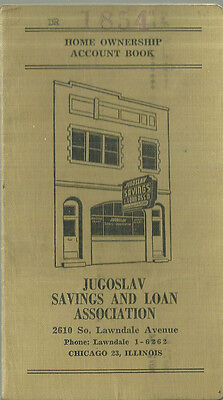 Jugoslav Savings and Loan Bank Account Book Lawndale Chicago