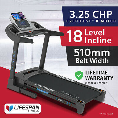 Lifespan APEX #New Electric Treadmill PRO SUSPENSION /2.5CHP EverDrive® Motor