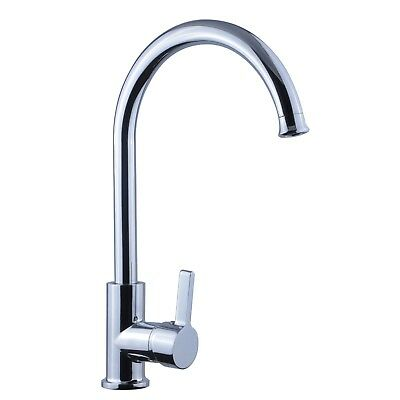ENKI Kitchen Sink Mixer Taps Faucet Monobloc Large Swan Swivel Spout BERLIN