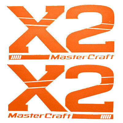 MASTERCRAFT X Pro Tour Red Raised Domed Boat Decals Set Of - Baja boat decals easy removallarson boat raised decal lsrorange