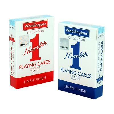 Waddingtons Playing Cards-LINEN FINISHED PLAYING CARDS GENUINE UK STOCK