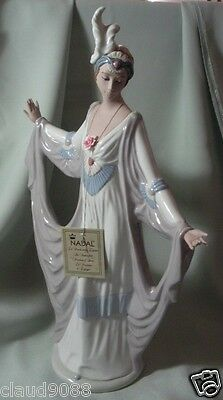 "Nadal Porcelain Made In Spain ""sophisticated Lady"" N142647E Mint & Reduced"