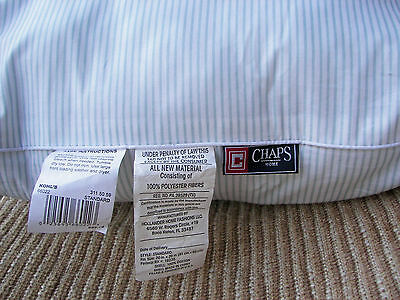 "10 CHAPS HOME Standard Pillow Shell w/ Ticking Ready to Fill 26""x20"" 100% Cotton"