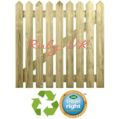 Round Wooden Picket Gate Pointed Flat Top 3ft-6ft DELIVERY 50 MILES OF BOSTON
