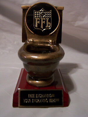 Toilet Bowl Last Place Skunked Trophy/award Fantasy Football-Baseball & More!!!