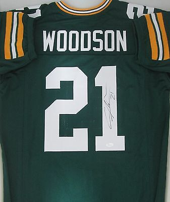 Packers CHARLES WOODSON Signed Custom GREEN Jersey AUTO - SB XLV Champ