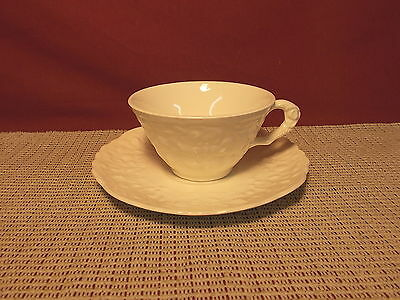 Vintage Pope Gosser Steubenville  China Rose Point Cream Cup & Saucer Set
