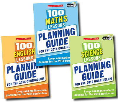 Planning Guide 100 Lessons 2014 Curriculum Collection 3 Books Set Maths  Science